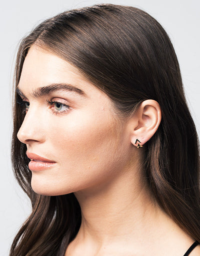 Dagger Studs with Ear Jackets | Rose Gold