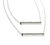 Double Tube - Long Necklace | Silver Plated Brass
