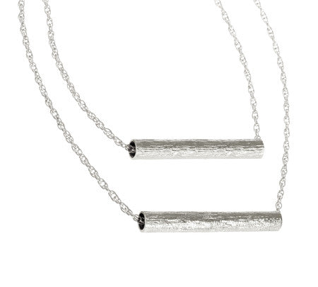Double Tube - Long | Silver Plated Brass