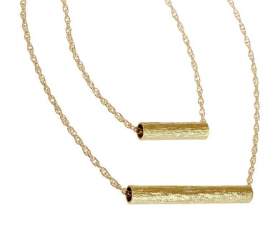 Double Tube Multi-Length Necklace | Gold Plated Brass
