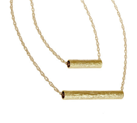 Double Tube Multi-Length| Gold Plated Brass