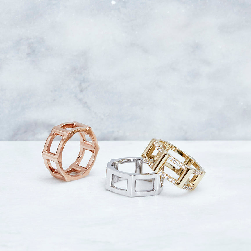Half Cage Ring | Rose Gold