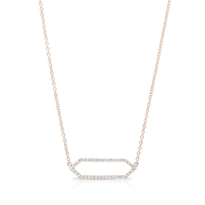 All Diamond Mini Marquis Necklace | Rose Gold