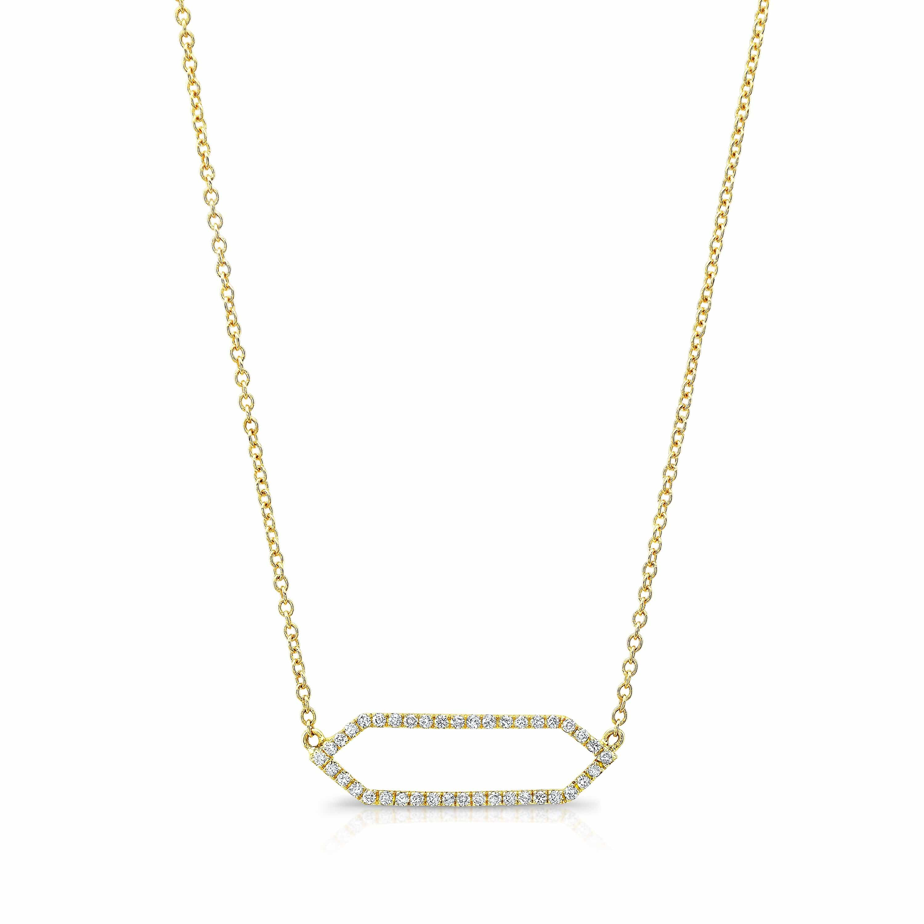 All Diamond Mini Marquis Necklace | 14K Gold