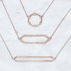 Large Diamond Marquis Necklace | Rose Gold