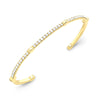 Diamond Open Gear Bangle | Yellow Gold