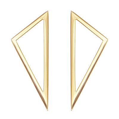 Large Triangle Earrings | Yellow Gold