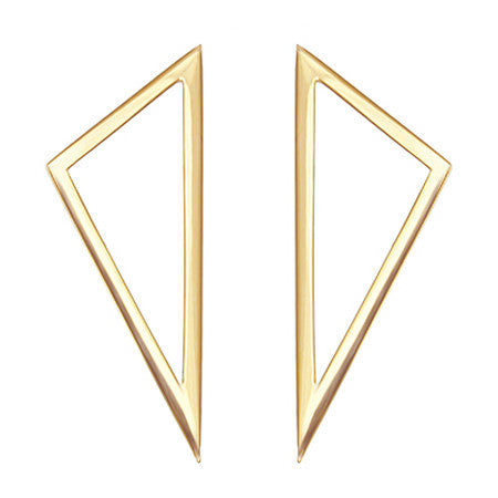 Triangle Earrings | 14K Yellow Gold