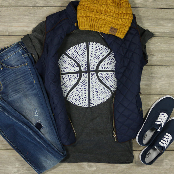 Distressed Basketball Tee