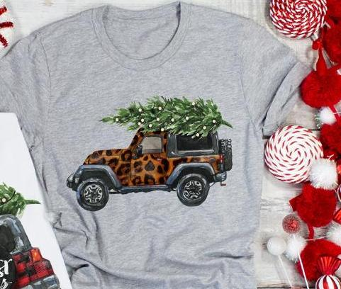 Leopard Christmas Jeep