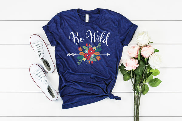 Be Wild - Floral Arrow