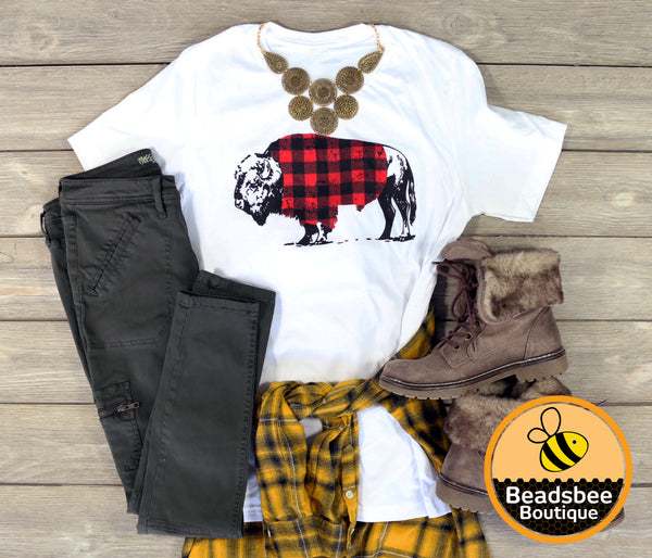 Plaid Buffalo Tee
