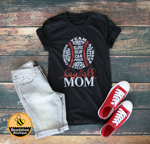 Baseball Mom Ball Tee