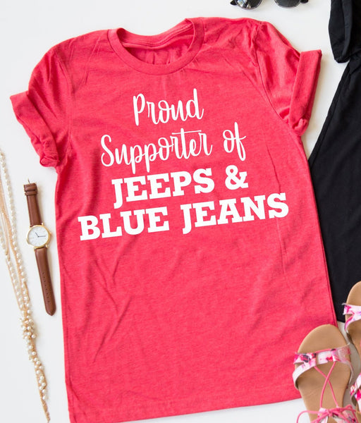 Jeeps And Blue Jeans tee