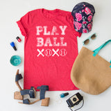 Baseball Hugs and Kisses Tee