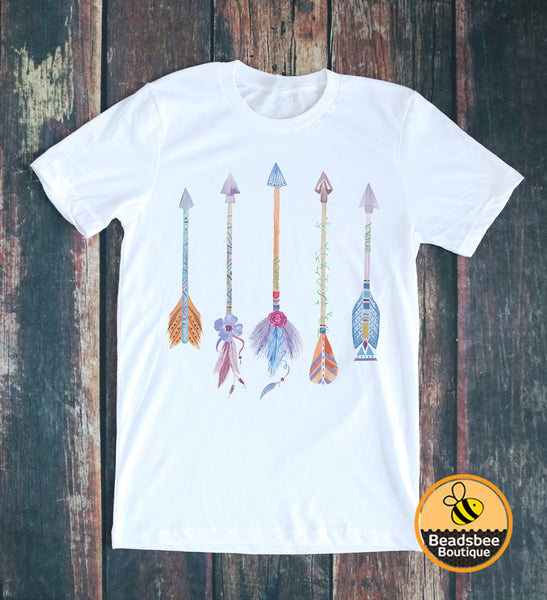 Colorful Arrow Tee - White