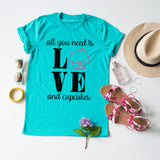 Love And Cupcakes tee