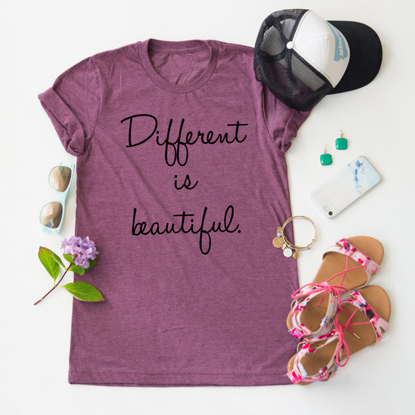 Different Is Beautiful tee