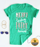 Merry Christmas Filthy Animal tee