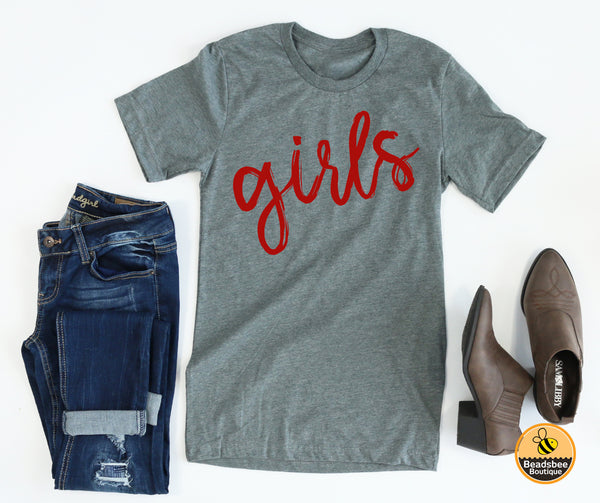 Girls Tee - Red