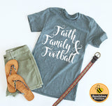 Faith Family and Football Tee