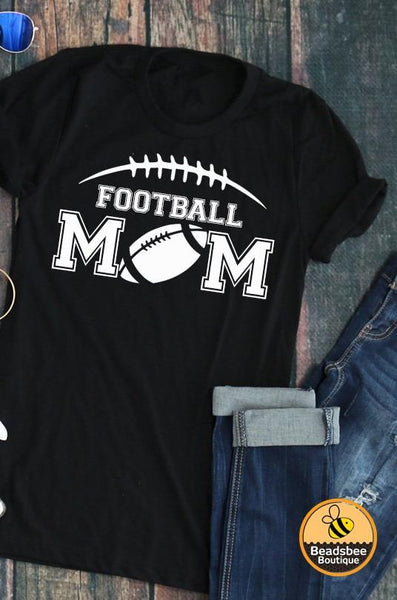 Detailed Football Mom Tee