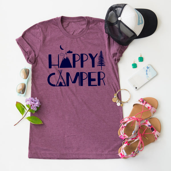 Happy Camper Scene tee