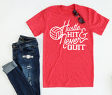 Volleyball Hustle Hit Tee