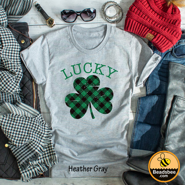 Lucky Plaid Clover