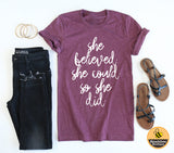 Jane Austen She Believed Tee