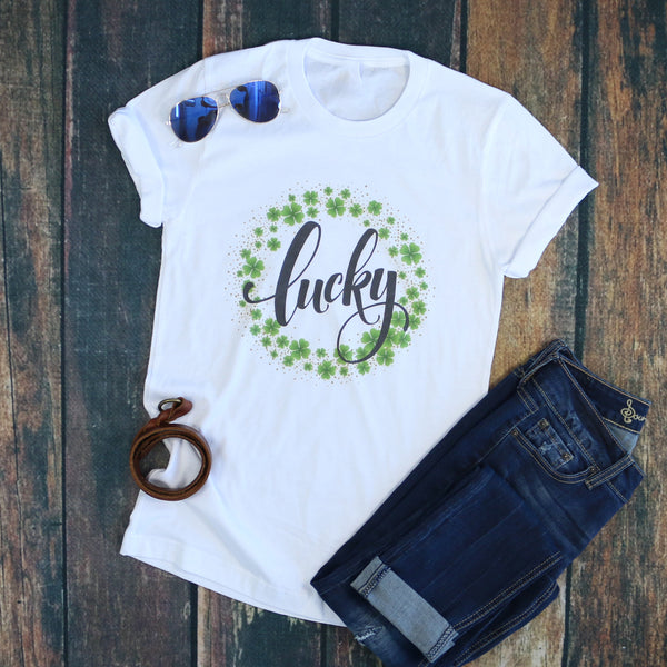 Fancy Lucky Shamrock Tee