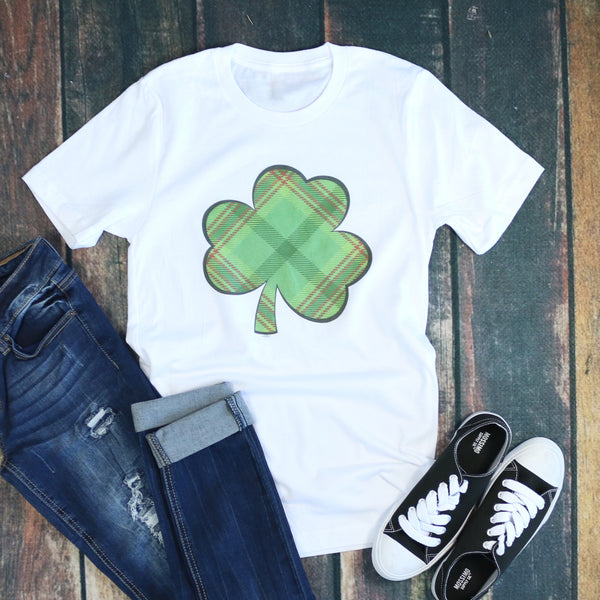 Plaid Shamrock Tee