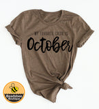 Favorite Color is October Tee - Black Ink