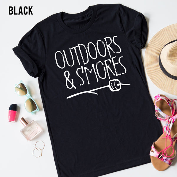 Outdoors and S'mores Tee