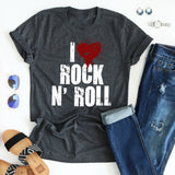 I Heart Rock N'Roll tee