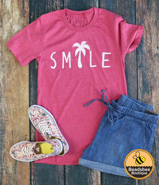 Smile Palm Tree tee