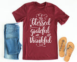 Blessed Grateful Thankful Tee