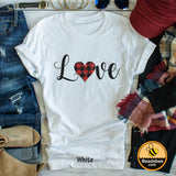 Plaid Love Tee
