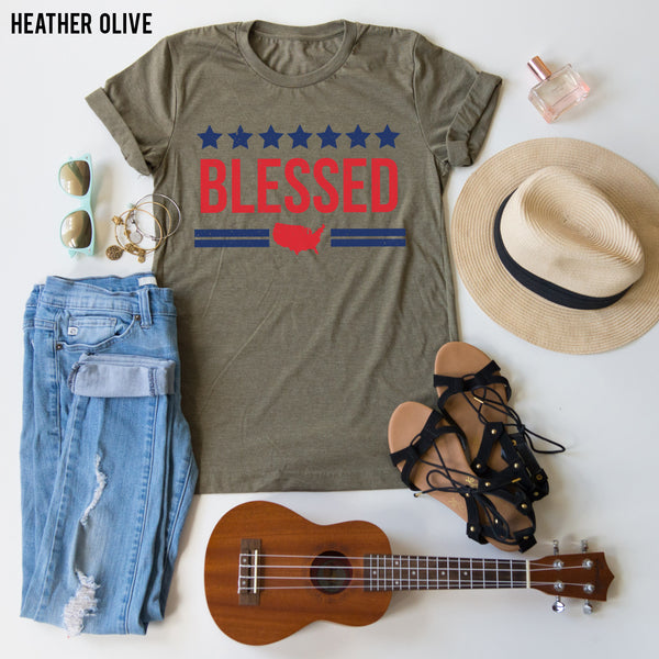 American Blessed tee