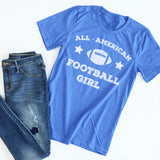 All American Football Girl tee