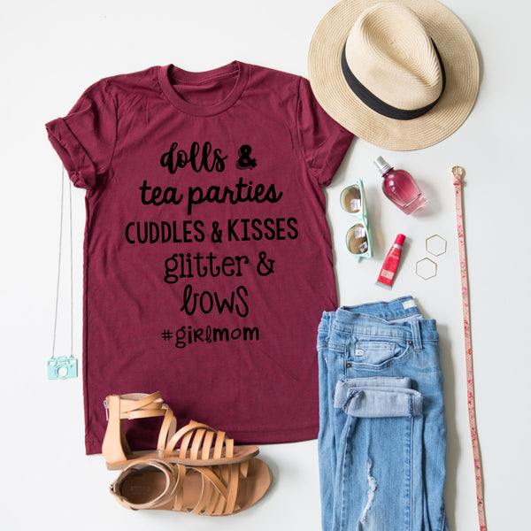 Hashtag Girl Mom Tee