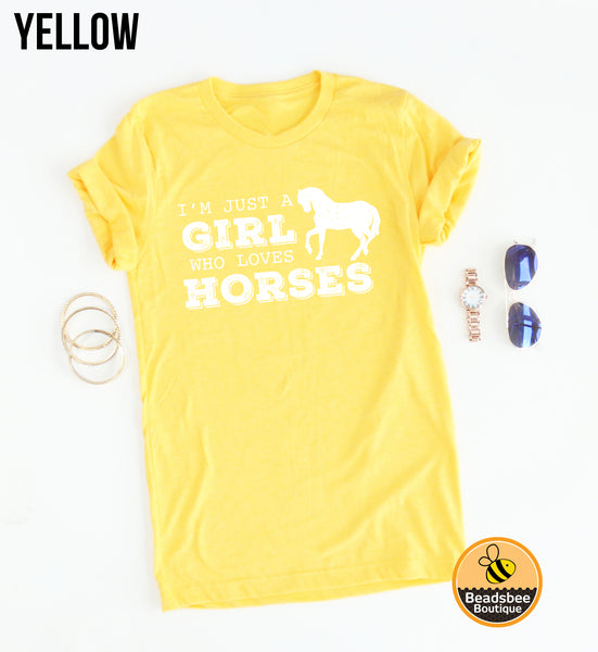A Girl Who Loves Horses tee