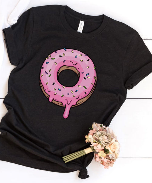 Pink Sprinkled Donut