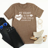 My Heart Is On The Field tee