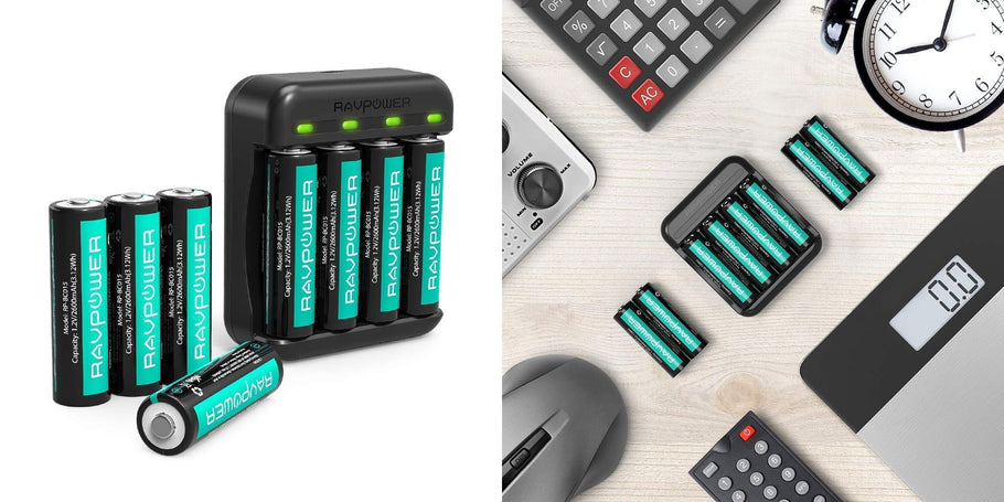 RAVPower Official (99% positive lifetime feedback) via Amazon is offering an 8-pack of its Rechargeable AA Batteries Plus Charger for $12.99 Prime shipped when the code KIAPZMIB is used at checkout