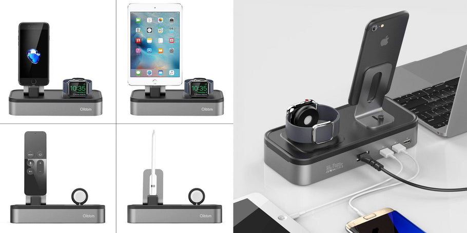 Treatlife Official (99% positive lifetime feedback) via Amazon is offering the Oittm 5-in-1 iPhone and Apple Watch charging station for $23.39 Prime shipped when you clip the on-page coupon and use the code ZWSK3DCC at checkout