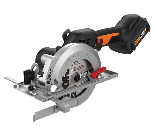 Worx has announced a new cordless circular saw as part of their cordless 20V Power Share line with the WORX 20V 4-1/2″ WORXSAW Brushless Compact Circular Saw WX531L .