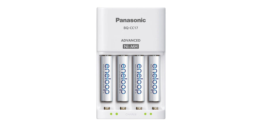 Amazon offers the Panasonic eneloop 4-pack AAA Rechargeable Battery Bundle with Wall Charger for $17.99 Prime shipped