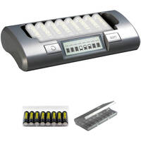 Powerex Rechargeable AA NiMH Batteries and 8-Cell Smart Charger Kit only $39.99