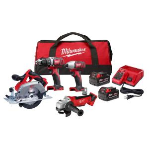 Milwaukee M18 18-Volt Lithium-Ion Cordless Combo Tool Kit only $299.00